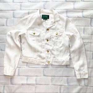 Ralph Lauren White Denim Linen Jacket